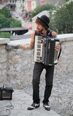 Músico de rua — Foto Stock