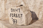 """Don't forget"" stone — 图库照片"