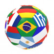3D render of football with flags — Stock Photo #44013145