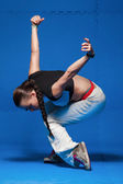 Young dancer in movement — Stock Photo