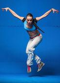Junger tänzer in bewegung — Stockfoto