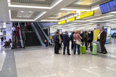 Passengers  wait at Belgrade airport Nikola Tesla — Stock Photo
