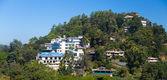 Vista de hoteles en kandy en colina — Foto de Stock