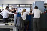 Security control point at the Belgrade airport Nikola Tesla — Stock Photo