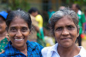 Portrait of 2 local women at Sunday market — Stock Photo