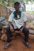 Tourist guide  in Sigiriya complex — Stock Photo