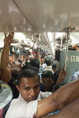 Lokala män i tåget — Stockfoto