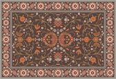 All-over Floral Rug Layout — Stockvektor