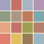 Collection of Beautiful Chevron Seamless Patterns — Stock Vector