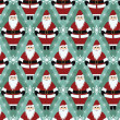 Christmas Santa Gift Wrapping Paper — Stock Vector