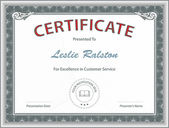 Certificate of Excellence Template — Vector de stock