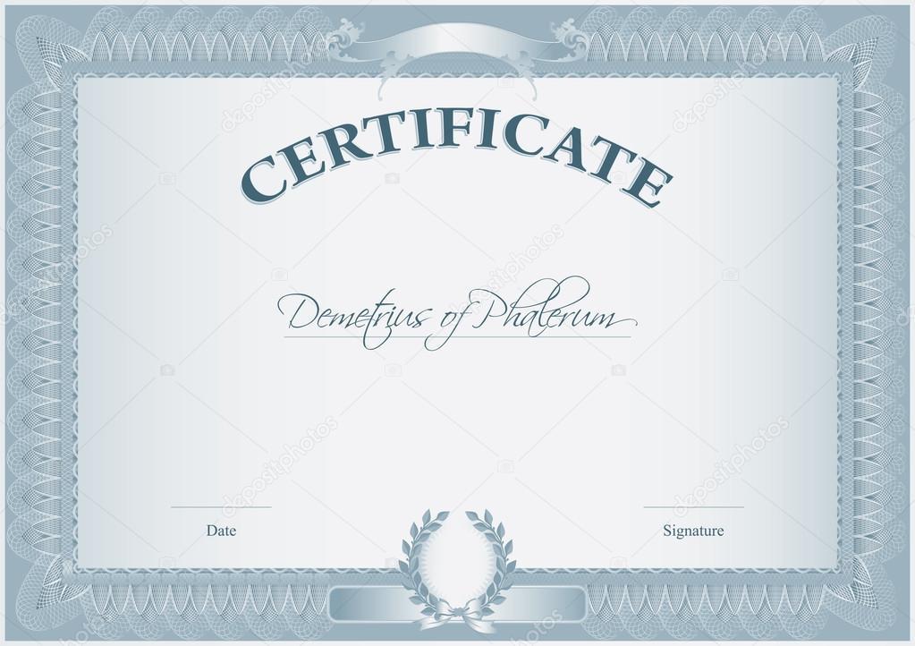 Blank Retro Certificate Template Vector Artstyle 30922317 – Certificate Template Blank