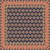 Retro floral print bandana oder kopftuch — Stockvektor