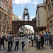 A Busy Eastgate Street in Chester, England — Stock Photo