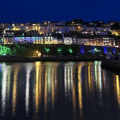 A Look at the Light Reflections of Brixham — 图库照片