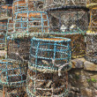 Stock Photo: Large Stack of Multicolored Crab Pots
