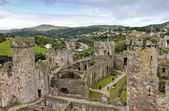 A Daytime Conwy and Conwy Castle Shot — Stock Photo