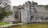 A Beaumaris Castle Moat on Anglesey, Wales — Stock Photo