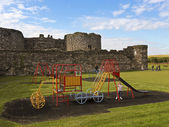 A Beaumaris Castle Playground on Anglesey, Wales — Stock Photo