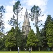 A Church Steeple and Bowling Green, Ambleside — Stockfoto
