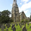 A Church Steeple and Burial Ground, Ambleside — ストック写真