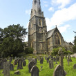 A Church Steeple and Burial Ground, Ambleside — Stock Photo