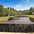 Стоковое фото: View of Chatsworth House Cascade, England