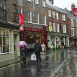 A Rainy Low Petergate Scene, York, England — Stock Photo