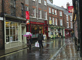 A Rainy Low Petergate Scene, York, England — Stock Photo