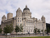 A View of the Port of Liverpool Building — Stock Photo