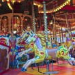 A Shot of Horses on a Carousel — Stock Photo