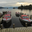 A Sunset Marina Shot in Bowness-on-Windermere - Stock Photo