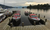 A Sunset Marina Shot in Bowness-on-Windermere — Stock Photo