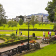 Foto de Stock  : Busy Crow Park in Keswick, Cumbria