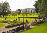 A Busy Crow Park in Keswick, Cumbria — Stock Photo