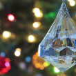 Stock Photo: Close Up of Crystal Christmas Ornament