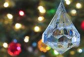 Een close up van een crystal christmas ornament — Stockfoto