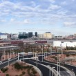 a las vegas strip view from mccarran — Stock Photo