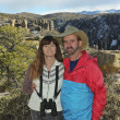 A Couple Hiking in the Chiricahua Mountains - Stock Photo