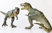 A Tyrannosaurus Pair on a White Background — Stock Photo