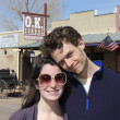 A Young Couple at the O.K. Corral, Tombstone - Stock Photo