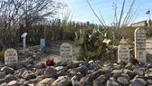 A Boothill Graveyard Scene in Tombstone, Arizona — Stock Photo