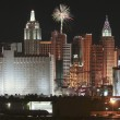 A New York Casino Fireworks View from McCarran Airport — Stock Photo