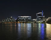 A Hayden Ferry Lakeside Night View, Tempe — Stock Photo
