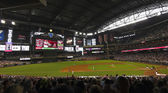 A Diamondbacks Giants Game at Chase Field — Stock Photo