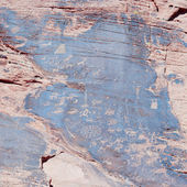 Ancient Indian Rock Art, also called Petroglyphs — Foto Stock