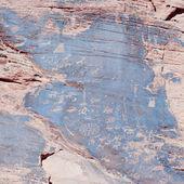 Arte antiga pedra indiana, também chamado de petroglifos — Foto Stock
