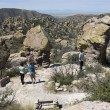 A Family at the Chiricahua National Monument — Stock Photo