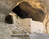 A Cave 3 Scene at the Gila Cliff Dwellings — Stock Photo