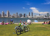 A San Diego Bay and Downtown View from SDG&E Park — Stock Photo